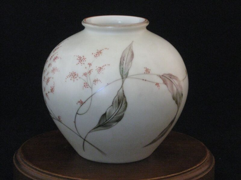 Rosenthal Selb Hand Painted Signed Vase by Fritz Von Stockmeyer 1940-1944