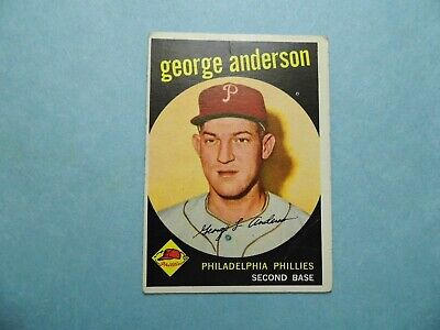 George Anderson 1959 Topps Card - No. 338 - Good