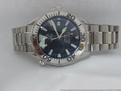 41mm Omega Seamaster Blue Wave Dial Automatic Chronometer  300m Diver Watch - watch picture 1