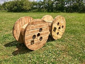 Small Wooden Cable Reel / Drum / Spool Upcycled Industrial
