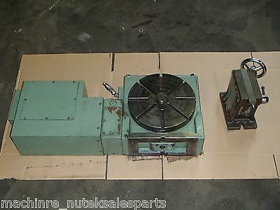 4th Axis Rotary Table Tsudakoma 12 Dia Table W Tailstock Rncv-300l 4 Axis