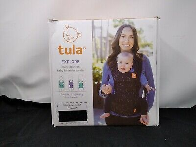 Baby TULA Discover Free-to-Grow Baby Carrier Newborn to Toddler BLACK GRAY STARS