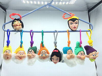 Snow White Witch (Vintage Disney Snow White The 7 Dwarves Evil Queen & Witch Key Chains Lot of)