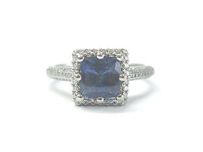 Tacori Platinum NATURAL Gem Sapphire & Diamond Anniversary Jewelry Ring 2.43CT Tacori Sapphire Ring
