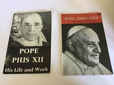 POPE PIUS XII HIS LIFE AND WORK and POPE JOHN XXIII by M DERRICK 1958 for sale  Shipping to South Africa