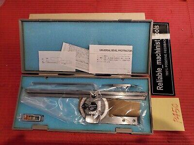 New Japan Made Mitutoyo Vernier Protractor 187-901 Machinist Welder P450