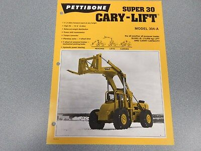 Rare Pettibone Cary Lift Super 30 Sales Sheet
