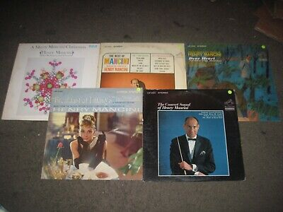 Henry Mancini Lot 5 Jazz Vinyl LP Records CHRISTMAS TIFFANYS BEST OF DEAR