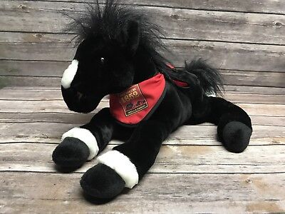 "Wells Fargo King Legendary Pony Horse 13"" Plush Stuffed Animal 1 Black Foot"