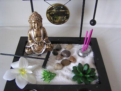 "Deko-Set ""Zen-Garten"", Buddha gold, Feng Shui Dekoration, Buddha, Teelicht"