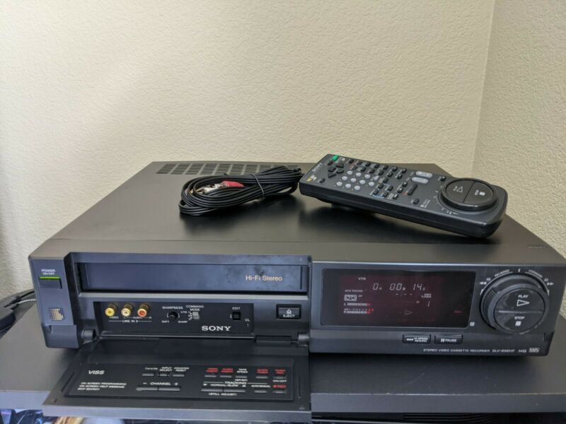 REFURBISHED! Sony SLV-696HF VHS VCR Recorder Hi-Fi Stereo VCR Plus w/ Remote