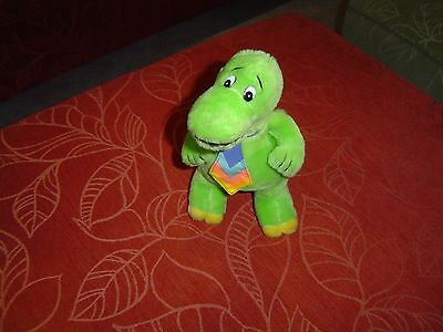 """1989 Colgate-Palmolive Dynamosaurus 11"""" Plush Figure Toy in good condition"""
