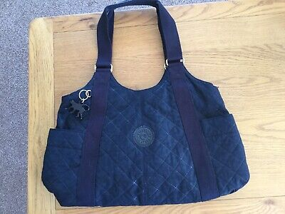 "Kipling Black Quilted Shoulder Bag, New With Tags! 15"" Wide X 12"" High X 5"" Base"