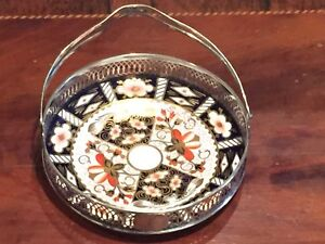 Royal Crown Derby/Sterling Tray