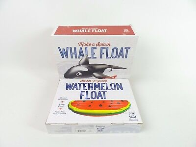 Wembley Inflatable SET OF 2 Whale & Watermelon Summer 6' Pool Beach Float E4025 for sale  Shipping to Canada