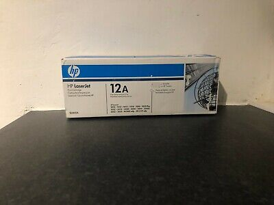 HP Genuine Q2612A 12A Black Toner Cartridge 1010 1012 1018 3015 3020 Sealed New for sale  St. Neots