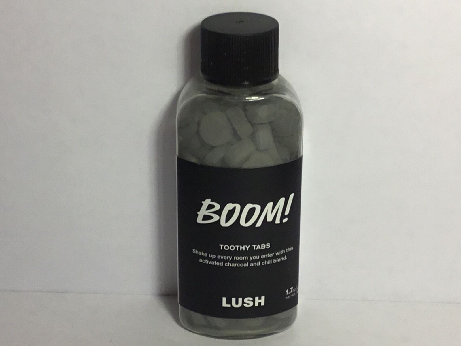 Lush Cosmetics - BOOM TOOTHY TABS - Toothpaste tabs 1.7 oz VEGAN DENTAL DYNAMIT.