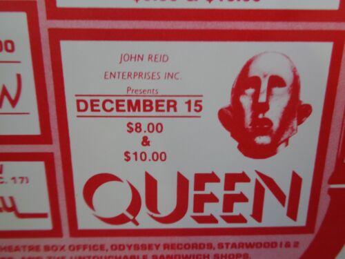 Queen Postcard Handbill At The Aladdin Las Vegas News Of The World Tour 1977