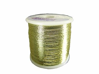 OLDE FLY SHOP ROD BUILDING METALLIC THREAD 100YDS SIZE A   GOLD #YC116