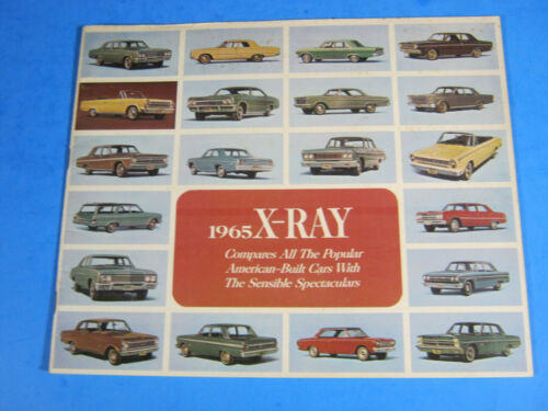 1965 X-RAY AMERICAN MOTORS 47 PAGE BROCHURE AMC RAMBLER COMPARES CHEVY FORD ETC