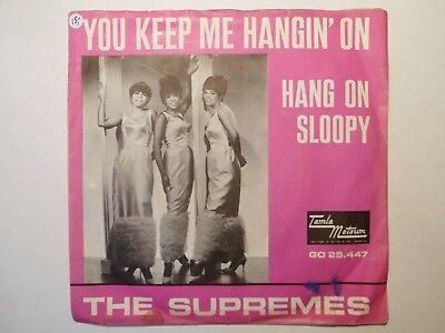 """7"""" THE SUPREMES - You keep me hangin'on - VG+/EX - TAMLA - GO 25.447 - HOLLAND"""