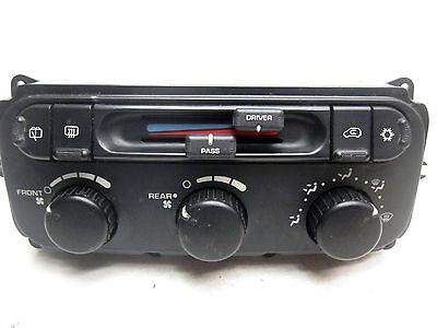 04   2007 Grand Caravan A C Heat Temperature Climate Control Switch Dual Zone  3