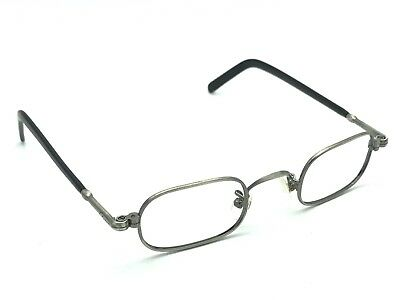 Lunor Gunmetal & Black Designer Eyeglasses Frames Vintage Made in Germany