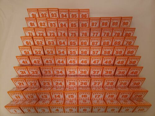 Individual WHATABURGER Restaurant Table Tent Numbers - Modern Glossy