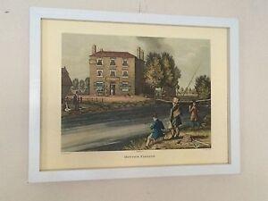 Fishing wall art - James Pollard print , 12''x16'' frame, Bottom fishing print