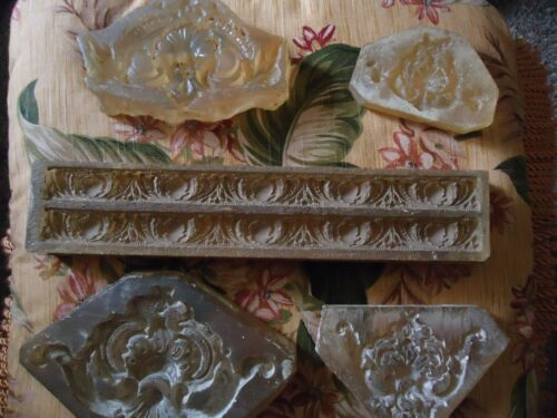 Antique With Carving w/Designs / Architectural Molds (5)