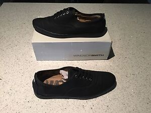 WINDSOR SMITH BLACK CASUAL SHOES SIZE MENS US 11 Rowville Knox Area Preview
