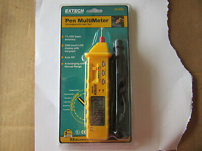 Extech 381626 Pen Multimeter Large Lcd Display New In Factory Sealed Pack