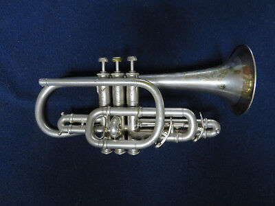 York Professional Cornet, Bb, 1913 - 1915, Gold-washed etching, Price Reduced
