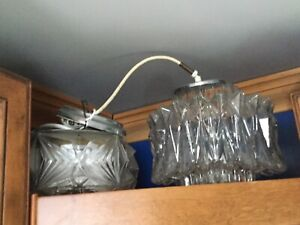 2 retro ceiling light fixtures- available-