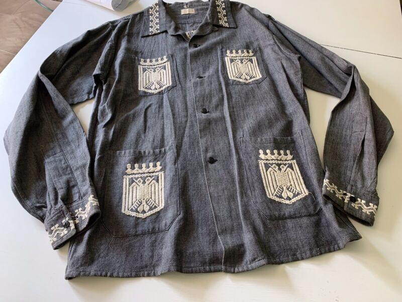 VTG 60s La Regional Guatemala Ethnic Boho Quetzal Bird Shirt Art Unisex