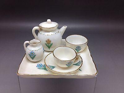 "Goss ""Forget Me Not"" Miniature Teaset Including Teapot"
