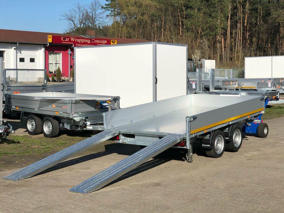 ⭐️Anhänger Eduard e-Kipper 3000 kg 311x180x30 cm Rampen Neu LH 63 in Schöneiche bei Berlin