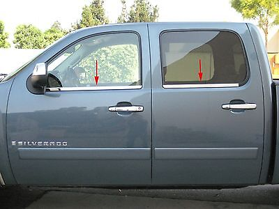 CHEVROLET SILVERADO/GMC SIERRA CREW CAB 2007-2013 TFP CHROME WINDOW SILL COVER