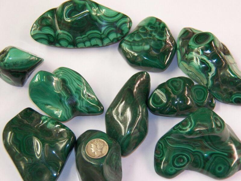 Polished Malachite Specimen - Congo  ~ (1/2) Pound Specimen - Stunning Color