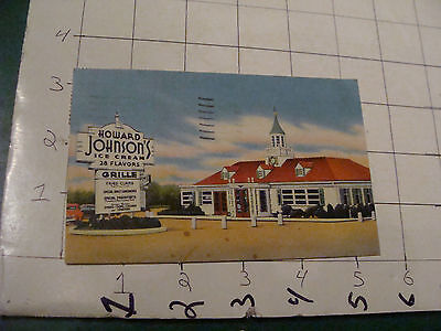 vintage paper item - HOWARD JOHNSON's POST CARD, sent 1953