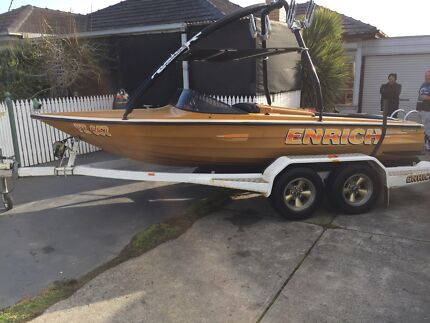 Nankervis ski boat 350 chev and trailer Tullamarine Hume Area Preview