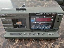 GPX AM/FM Digital Clock Radio Cassette Player