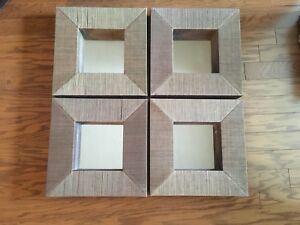 Crate & Barrel set of 4 wall mirrors