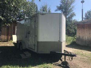 17x 8   V front end fully spray foamed  enclosed  trailer