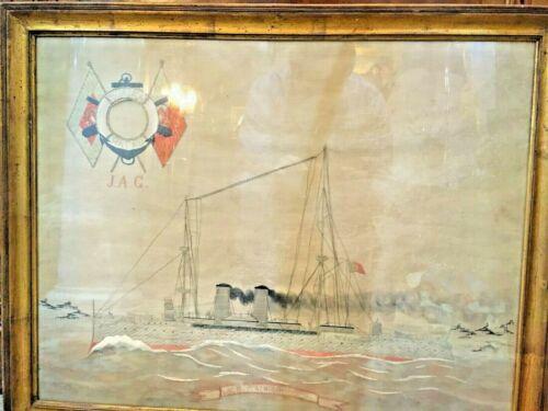 Woolie Ship NRP Almirante Reis Portugal Macau Circa 1910