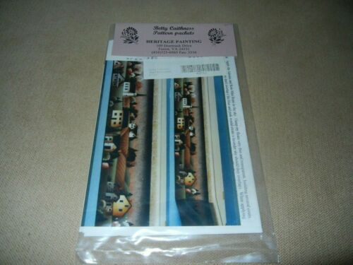 TOLE PAINTING PATTERN PACKET SHELF BOX SCENE BETTY CAITHNESS