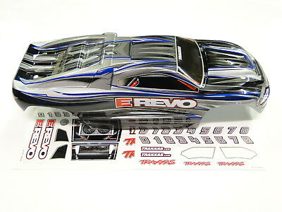 NEW TRAXXAS 1/16 E-REVO Body Painted Trim Silver RE6V ()