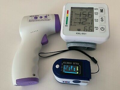 Aiqura Thermometer Kusum Health Fingertip Pulse Oximeter Wrist Bp Monitor