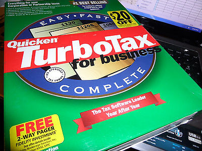 1999 Turbotax  Business Factory New Sealed Cd Of Turbo Tax  Free S H