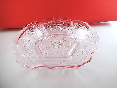 Vintage Anchor Hocking Sandwich Clear Glass Bowl